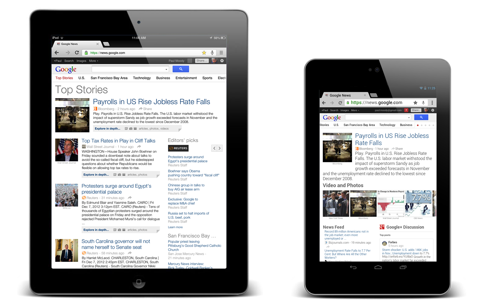 Google News Blog: A better Google News experience on tablets