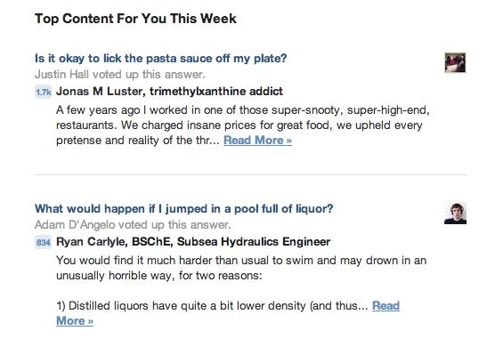 Quora Top Content